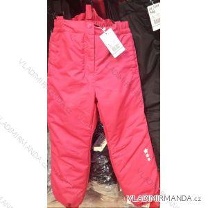 Nohavice zimné zateplené nepremokavé lyžiarske detské dievčenské a chlapčenské (110-140) B303B