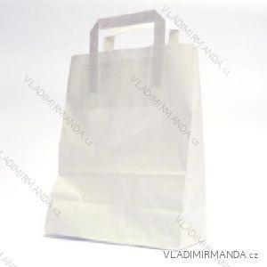 Papierová taška biela kraft 32 + 22x24 50ks / balenie