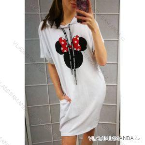 Šaty letné krátky rukáv dámske Mouse (uni s/m) Talianska MODA IM219255