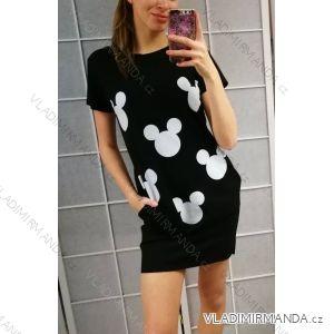 Šaty letné krátky rukáv dámske Mouse (uni s/m) Talianska MODA IM2198250