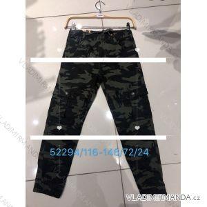 Kalhoty dětské dorost chlapecké maskáč (116-146) SEAGULL SEA1952294