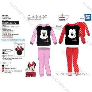 Pyžamo dlhé minnie mouse detské dievčenské bavlnené (3-8 rokov) SUN CITY HS2017