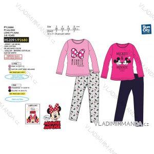 Pyžamo dlhé minnie mouse detské dievčenské bavlnené (3-8 rokov) SUN CITY HS2091