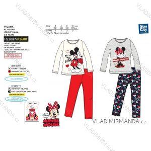 Pyžamo dlhé minnie mouse detské dievčenské bavlnené (3-8 rokov) SUN CITY HS2087