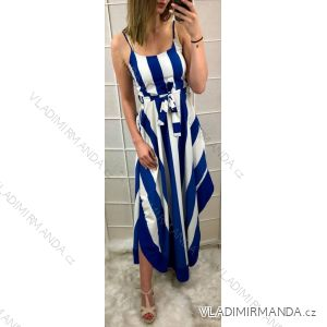 Šaty dlouhé letní dámské proužek (uni s-m) ITALSKá MóDA IM919157