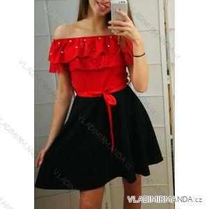 Šaty letní krátký rukáv dětské dorost krajkové (4-14 let) ITALSKÁ MLADÁ MÓDA IMM2199781