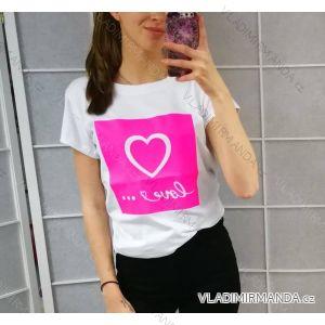 Tričko s krátkym rukávom  dámske (uni s/m) TALIANSKÁ MÓDA IM519030