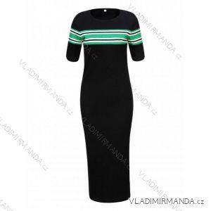 Šaty úpletové krátký rukáv dámske (s /xl) GLO-STORY WYQ-8828
