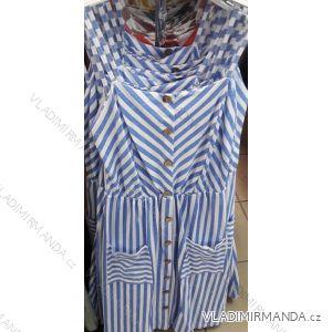 Šaty letní na ramínka proužek dámské (uni s/m) ITALSKá MóDA IM319549