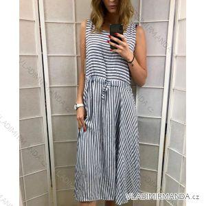 Šaty dámské letní proužek (uni s/m) TALIANSKÁ MÓDA IM419475