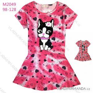 141ff1bf6801 Šaty krátký rukáv dětské dívčí (98-128) KUGO M2049