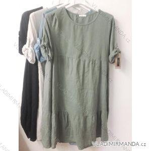 c715ea3799b5 Šaty krátky rukáv dámske nadrozmerné (uni xl-3XL) TALIANSKÁ MÓDA IM319479