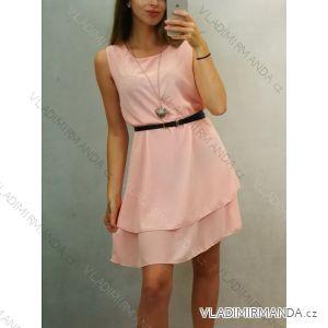 Šaty šifonové letné na ramienka dámske s přívěskem (uni s/m) TALIANSKÁ MÓDA IM419708