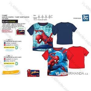 Tričko krátky rukáv spider man detské chlapčenské bavlnené (3-8 rokov) SUN CITY SE1451