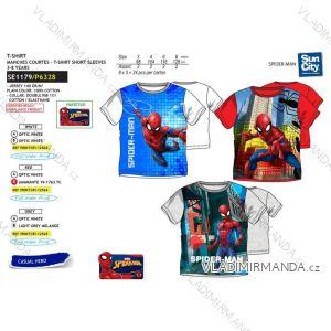 Tričko krátky rukáv spider man detské chlapčenské bavlnené (3-8 rokov) SUN CITY SE1179