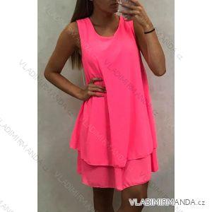 Šaty tenké dámské letní neon (uni m/l) TALIANSKÁ MÓDA IM419681