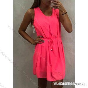 Šaty šifonové tenké dámské letní neon (uni m/l) TALIANSKÁ MÓDA IM419682
