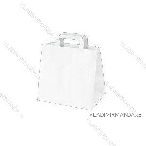Papierová taška biela kraft 26 + 17x25 50ks / balenie