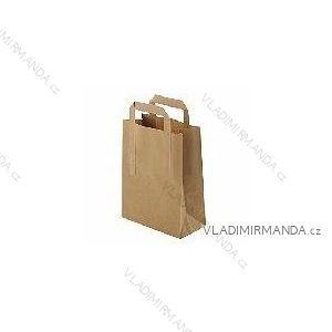 Papierová taška hnedá kraft 26 + 12x35 50ks / balenie