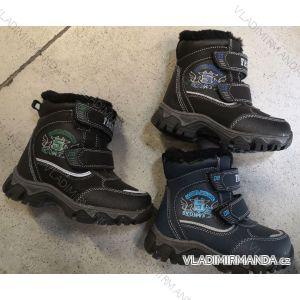 Topánky zimné členkové zateplené detské chlapčenské (27-32) RISTAR RIS19118