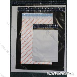 E-shop sáčok čierný jednofarebný s permanentnou lepiacou páskou (440x520 + 40 + 40x0,07) ES440520C