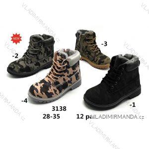 Topánky členkové zimné WORKERY s kožušinkou dorast dievčenské (28-35) WSHOES OBUV OB2193138