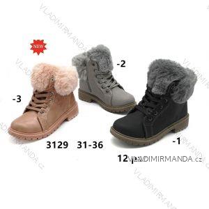 Topánky členkové zimné WORKERY s kožušinkou dorast dievčenské (31-36) WSHOES OBUV OB2193129