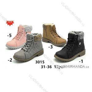 Topánky členkové zimné WORKERY s kožušinkou dorast dievčenské (31-36) WSHOES OBUV OB2193015