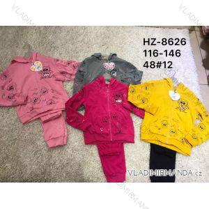 Súprava tepláky a mikina detská dorast dievčenské (116-146) ACTIVE SPORT ACT19HZ-8626