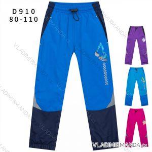 Nohavice šuštiakové zimné zateplené fleecom dojčenské detské dievčenské a chlapčenské (80-110) KUGO H590
