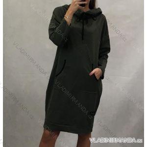 Mikina predĺžená alá šaty dlhý rukáv dámska (uni s-l) TALIANSKÁ MÓDA IMC191184
