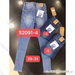 Rifle jeans push up dlouhé dámské (25-31) M.SARA MA519S2091-1