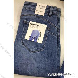 Rifle jeans push up dlouhé dámské (25-31) M.SARA MA519S2091-6