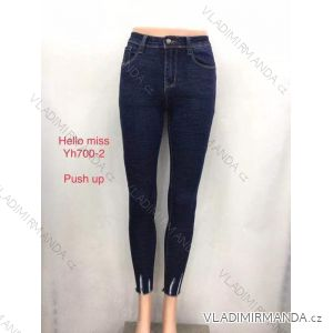 Rifle jeans push up dlouhé dámské (25-31) HELLO MISS MA519YH700-2