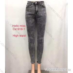 Rifle jeans vysoký pas dlouhé dámské (25-31) HELLO MISS MA519CK1918-1