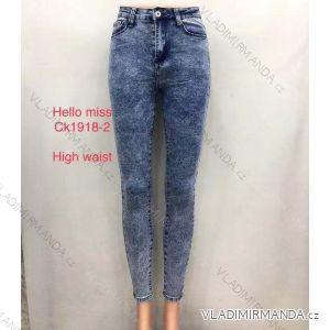 Rifle jeans vysoký pas dlouhé dámské (25-31) HELLO MISS MA519CK1918-2