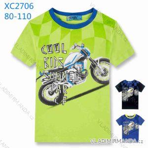Tričko s krátkym rukávom dojčenskej až detské chlapčenské (80-110) KUGO XC-2706