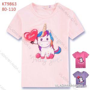 Tričko krátký rukáv kojenecké až dětské dívčí (80-110) KUGO KT9863