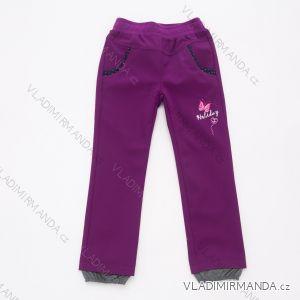 Kalhoty softshellové tenké kojenecké dětské dívčí (92-110) WOLF B2081