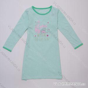 Nočná košeľa s dlhým rukávom detská dorast dievčenské (116-146) WOLF S2983