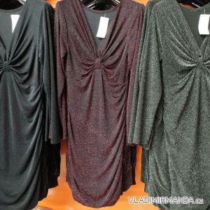 Šaty plesové dlouhý rukáv dámská (uni s-l) ITALSKá MóDA IM720013