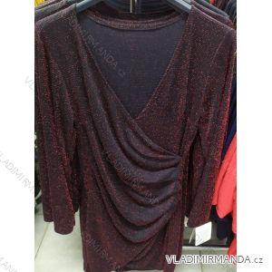 Šaty plesové dlouhý rukáv dámské (uni s-l) ITALSKá MóDA IM720019