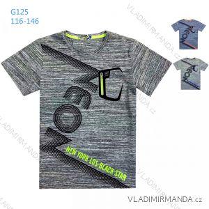 Tričko krátky rukáv detské a dorast chlapčenské (116-146) KUGO G125
