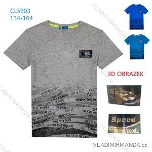 Tričko s krátkym rukávom dorast chlapčenské (134-164) KUGO LC5903