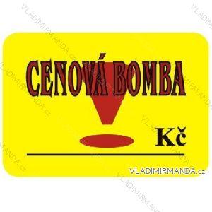 Visačky 52x74mm cenová bomba, balenie 100 ks