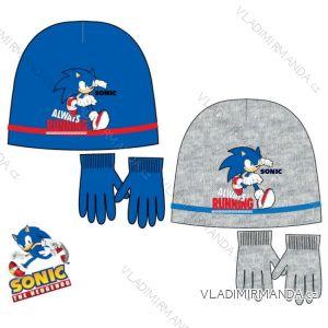 Set čiapky a rukavice sonic detský chlapčenský (52-54) SUN CITY NH4252