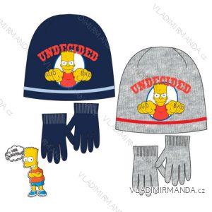 Set čiapky a rukavice simpsons detské chlapčenské (52-54) NH4263