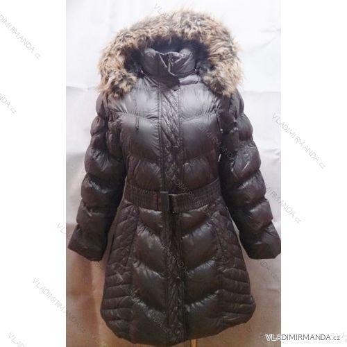 Kabát bunda zimná dámsky zateplený kožušinkou nadrozmerný (xl-5XL) HAS  B8858A b0a8a2ed5c