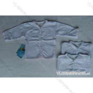 Košieľka dojčenská biela s farebným golierom 22-AB