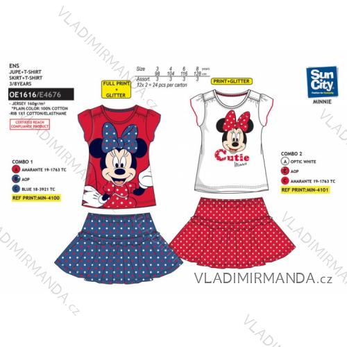 395a9427 Súprava tričko a sukňa minnie mouse detská dievčenské (3-8 rokov) SUN CITY